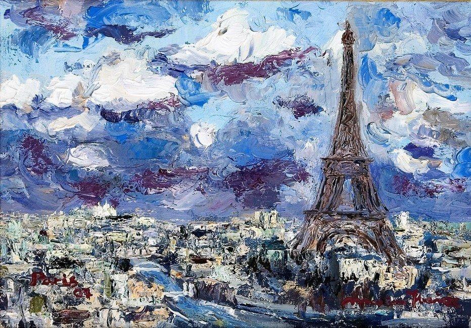 Tour Eiffel dia tormentoso